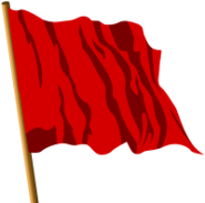 len loje, //[http://en.wikipedia.org/wiki/File:Red_flag_II.svg tan Ssolbergj]//